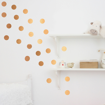 Copper dot wall stickers