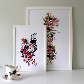 Prints Available in A3, A2 and A1 Floral Art Prints