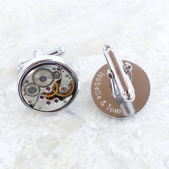 Personalised Vintage Round Watch Movement Cufflinks PreviousNextPrevious Personalised Vintage Round Watch Movement Cufflinks Personalised Vintage Round Watch Mo