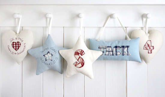 personalised hanging decorations from milly and pip
