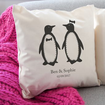 Penguin Pairs Cushion