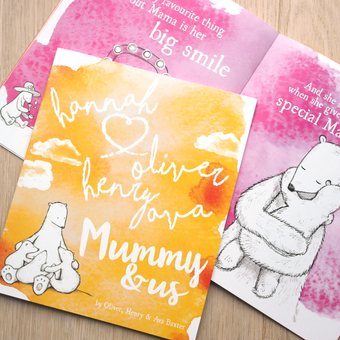 Personlaised Children's book from Letterfest for Mummy