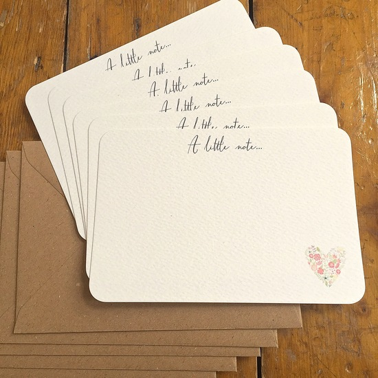 Sweet Floral Heart Notecards