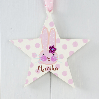 Personalised Easter Bunny Star for girls