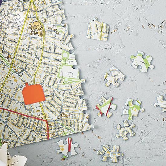 Your postcode creates your own Personalised map jigsaw map