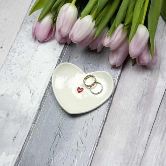 Red Heart Ring Dish