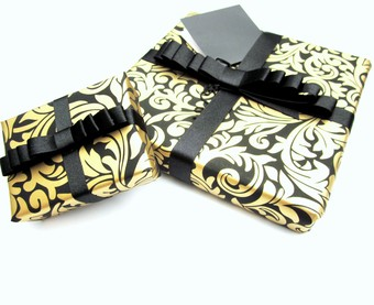 luxury gift wrap black and gold