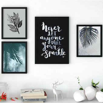 hand lettered wall art typography