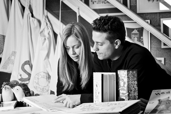 Lucy and Steve work together to develop ideas into gorgeous products.