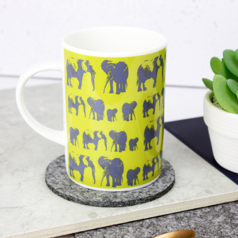 Elephant Family Bone China Mug