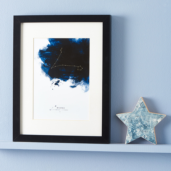 Constellations Framed Personalised Zodiac Starsign Print by Dig The Earth