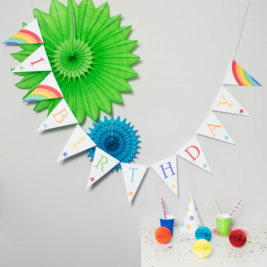 Party bunting decoration