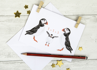 New Baby Puffin Card