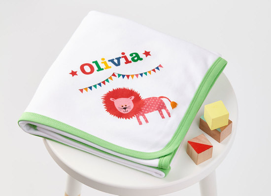 personalised baby blanket