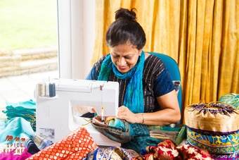 Spice Kitchen Shashi Sewing Sari Covers