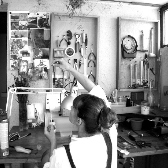 Cari-Jane at work in her studio.