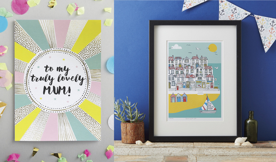 Lovely Mum Greeting Card and Coastal art print