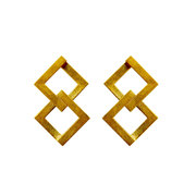 Geom Balance Earrings 18ct Gold Plate
