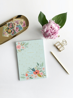 A pretty floral notebook designed by Emma Bryan Design and available at Not on the High Street