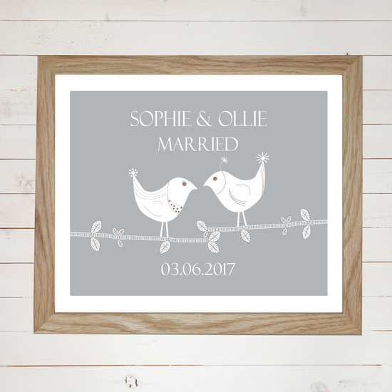 Personlaised wedding print