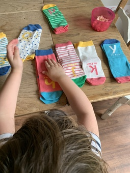 little minds love sorting and matching pairs