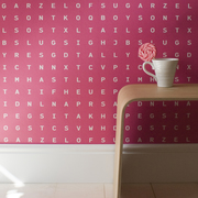 Sugar and Slugs Word Search Wallpaper by Identity Papers
