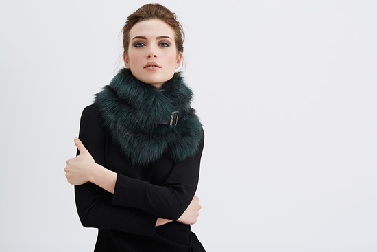 Faux Fur Buckle Collar
