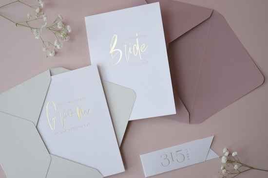 Bride and Groom Wedding Cards