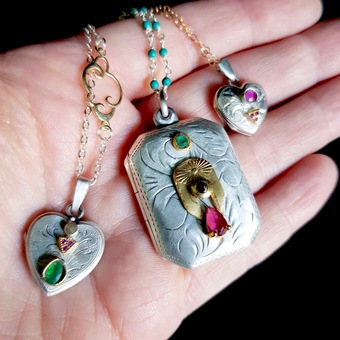 Vintage lockets with a modern twist