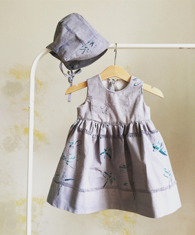 Dyed, printed and made with love into practical clothing