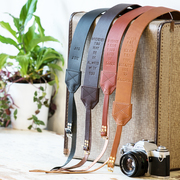 Personalised Retro Leather Camera Strap