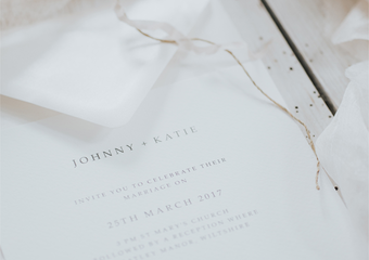 Spring Romance Wedding Invitation