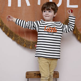 sgt smith little brother striped breton t-shirt