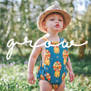 'Grow' - Circus Lion Print Bubble Romper