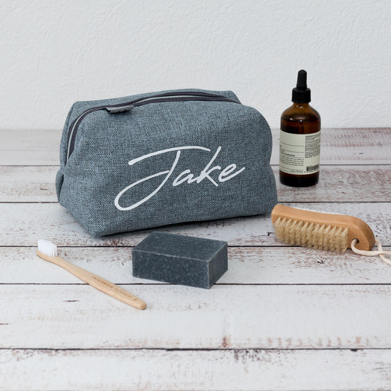 Personalised Men's Signature Wash Bag