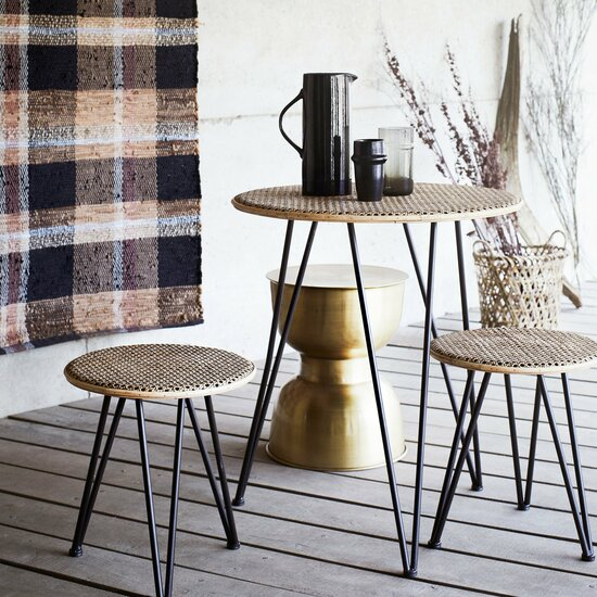 Rattan Table Set