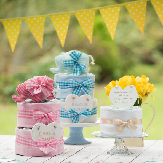 Nappy cakes that look good enough to eat!