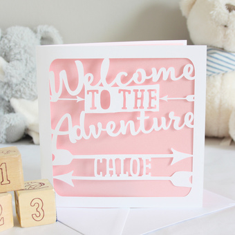 New Baby Adventure Card