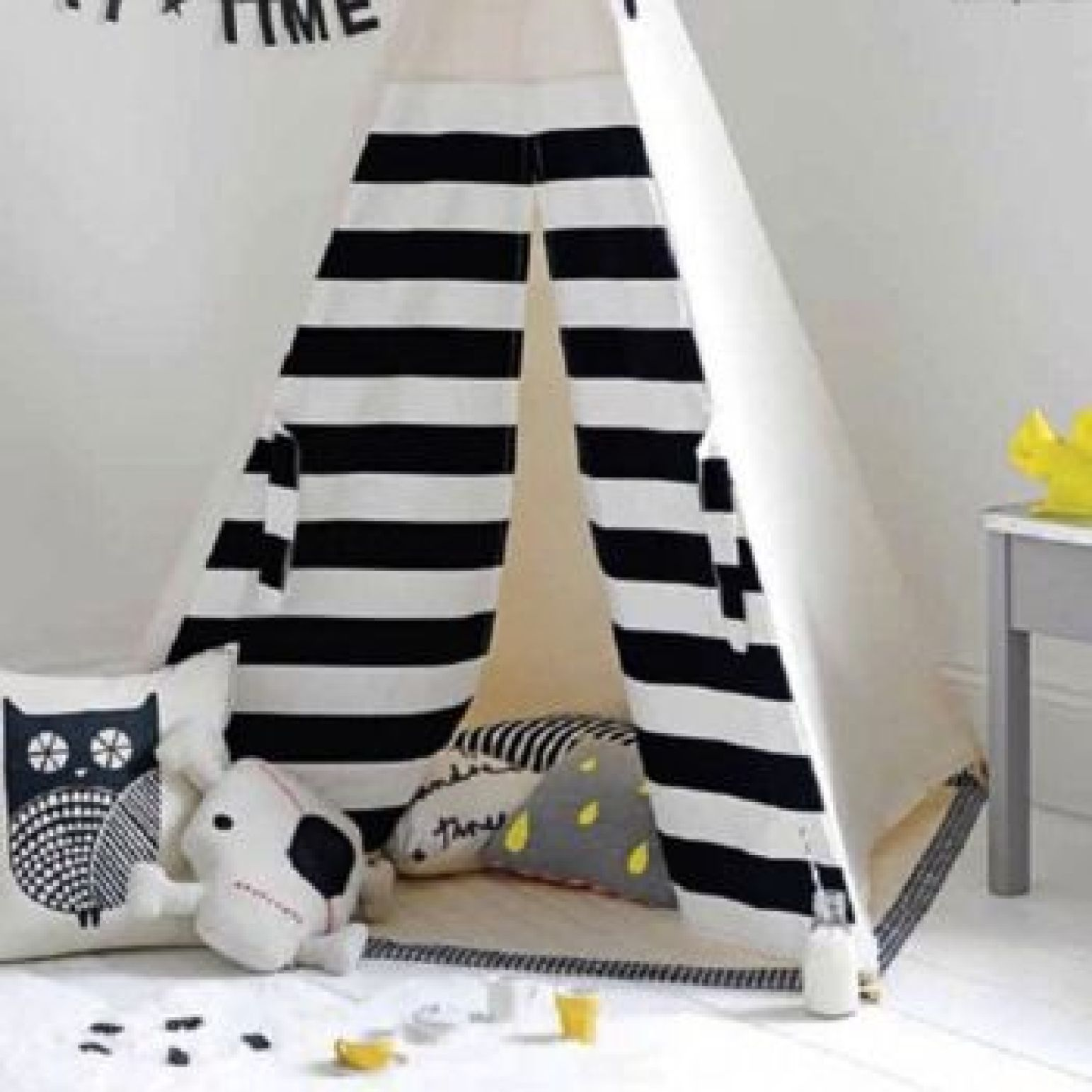 Monochrome Teepee Featured in Good Homes Magazine