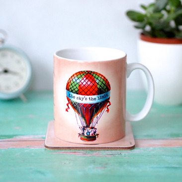 The Sky's the Limit Hot Air Balloon Mug