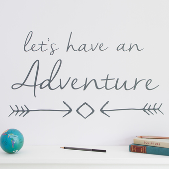 lets have adventure wall sticker