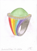 rainbow ring by elizabeth raine