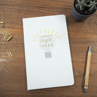 Personalised Foil Bright Ideas Notebook