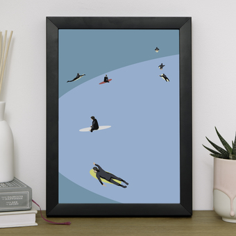 Summer Surfers Giclee Print