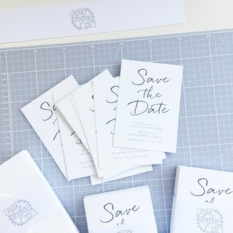 Pear Paper Co Minimalist Save the Date Wedding