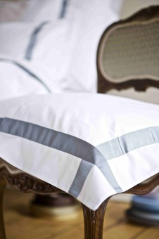 'Xero' which uses luxurious cotton trimmed with a wide grosgrain ribbon