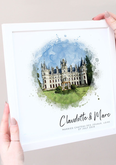 Personalised Wedding Venue Print