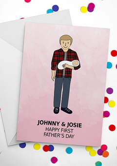 design your own dad first father's day card