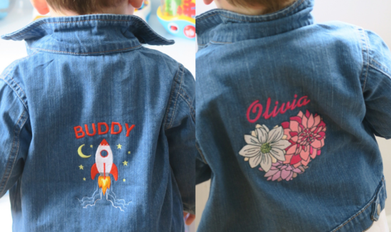 personalised denim jackets