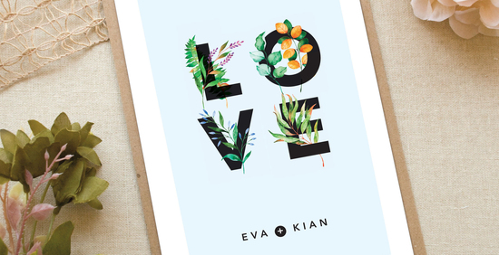All You Need Is Love Wedding Invitations: Notonthehighstreet.com